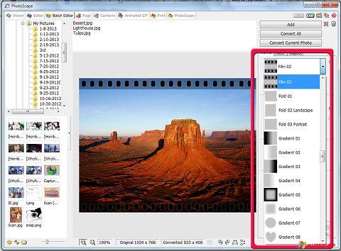 Screenshot PhotoScape for Windows XP