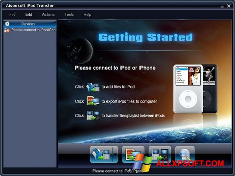 Screenshot iPhone PC Suite for Windows XP