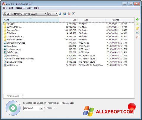 Screenshot BurnAware Free for Windows XP