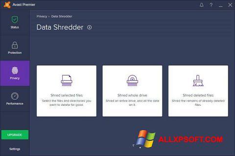 Screenshot Avast Premier for Windows XP