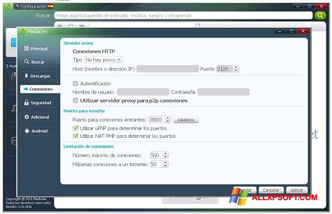 Screenshot MediaGet for Windows XP