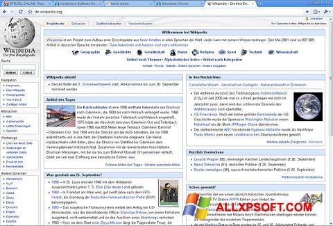 Screenshot SRWare Iron for Windows XP