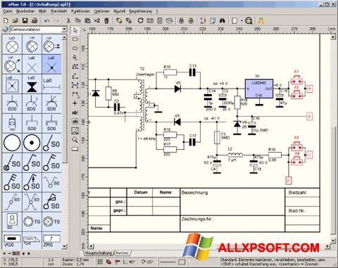 Screenshot sPlan for Windows XP
