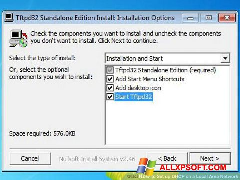 Screenshot Tftpd32 for Windows XP