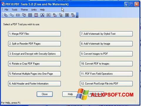Screenshot Pdf995 for Windows XP