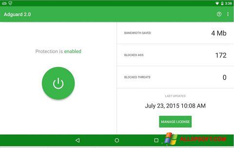 Screenshot Adguard for Windows XP