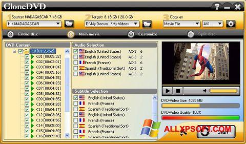 Screenshot CloneDVD for Windows XP