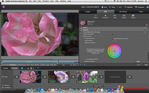 Screenshot Adobe Premiere Elements for Windows XP