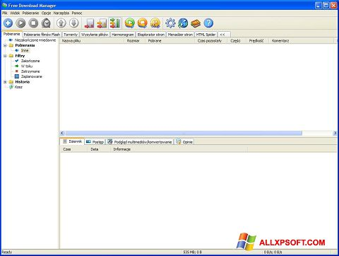 Screenshot Free Download Manager for Windows XP