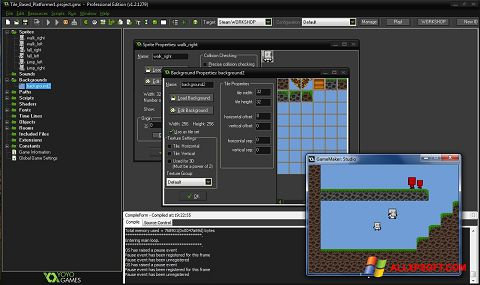Screenshot GameMaker: Studio for Windows XP