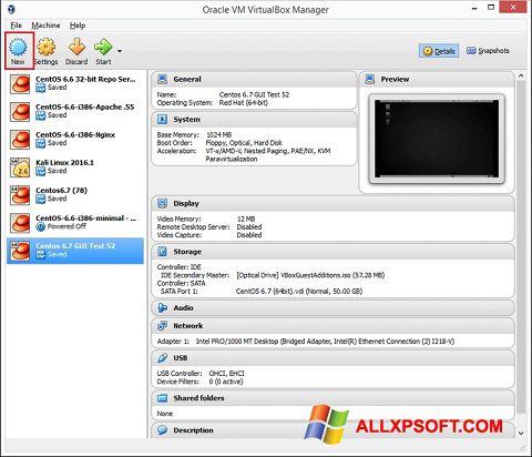 Screenshot VirtualBox for Windows XP