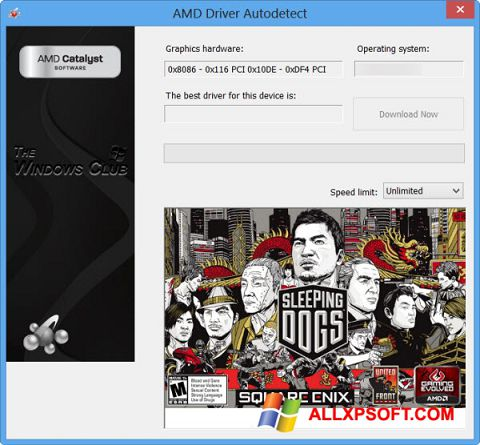 Screenshot AMD Driver Autodetect for Windows XP