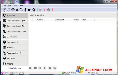 Screenshot Pamela for Skype for Windows XP