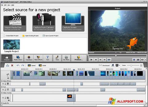 Screenshot AVS Video Editor for Windows XP
