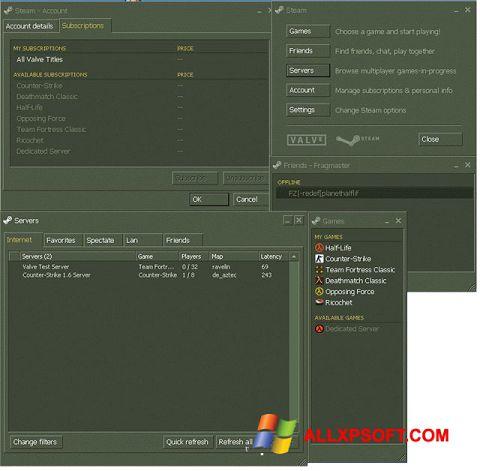 Screenshot Steam for Windows XP