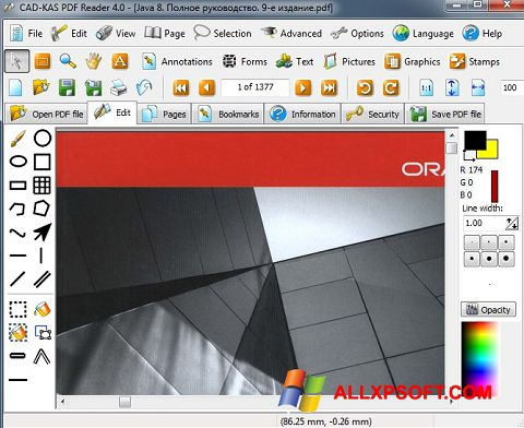 Screenshot PDF Reader for Windows XP