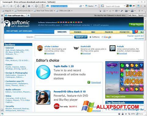 Screenshot Lunascape for Windows XP