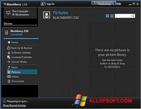 Blackberry z30 transfer files between computer and phone.
