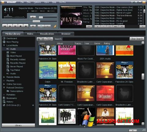 Screenshot Winamp for Windows XP