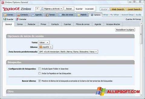Screenshot Zimbra Desktop for Windows XP