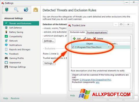 Screenshot Time Boss for Windows XP