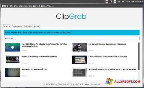 Screenshot ClipGrab for Windows XP
