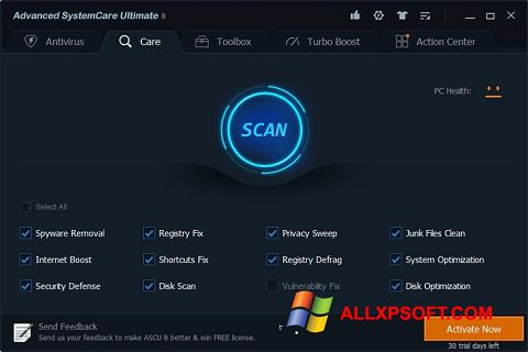 Screenshot Advanced SystemCare Ultimate for Windows XP