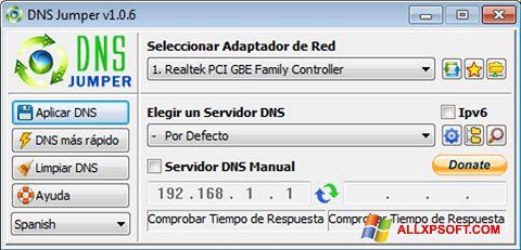 Screenshot DNS Jumper for Windows XP