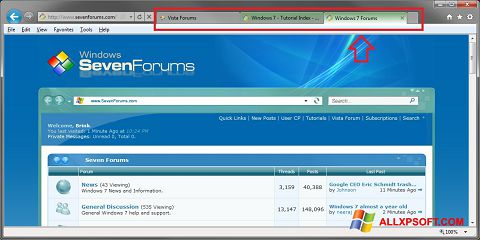 Screenshot Internet Explorer for Windows XP