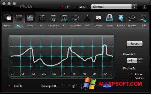 Screenshot Hear for Windows XP