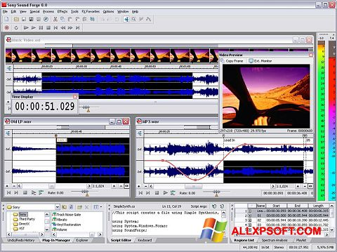 Screenshot Sound Forge for Windows XP
