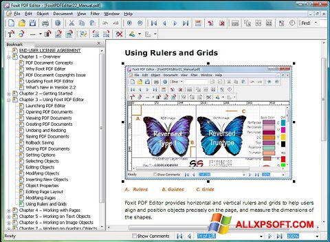 Screenshot Foxit Advanced PDF Editor for Windows XP