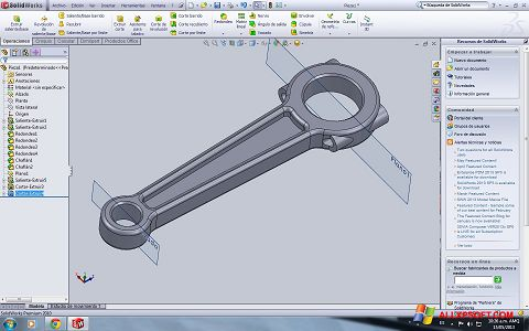 Screenshot SolidWorks for Windows XP