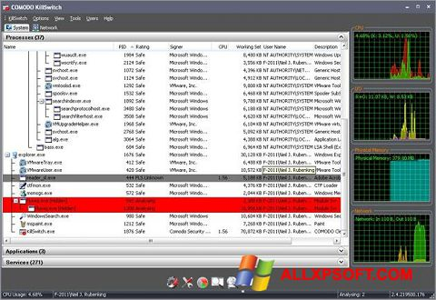 Screenshot Comodo Cleaning Essentials for Windows XP