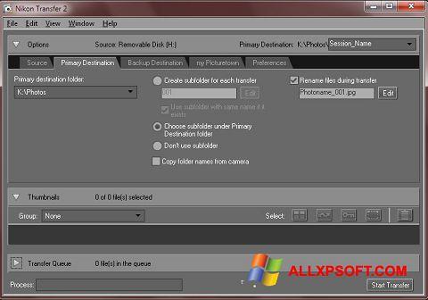 Screenshot Nikon Transfer for Windows XP