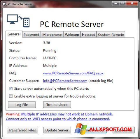 Screenshot PC Remote Server for Windows XP
