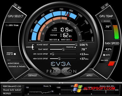 Screenshot EVGA Precision X for Windows XP