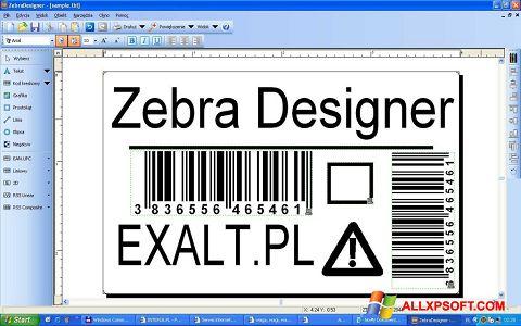Screenshot Zebra Designer for Windows XP