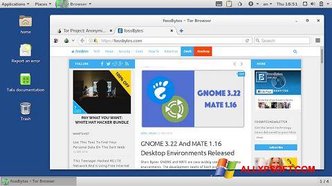 Screenshot Tor Browser for Windows XP