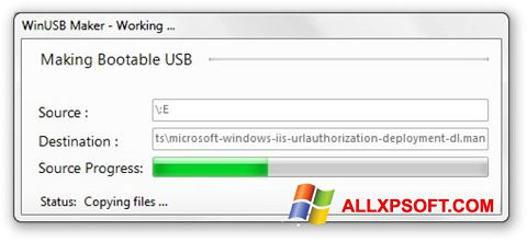 Screenshot WinUSB Maker for Windows XP