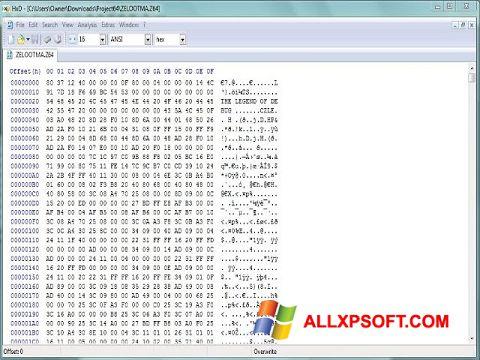 Screenshot HxD Hex Editor for Windows XP