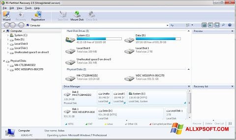 Download RS Partition Recovery for Windows XP (32/64 bit) in