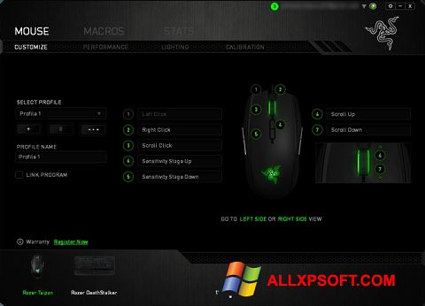 Screenshot Razer Synapse for Windows XP