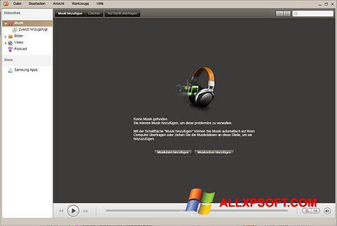 Screenshot Samsung Kies for Windows XP