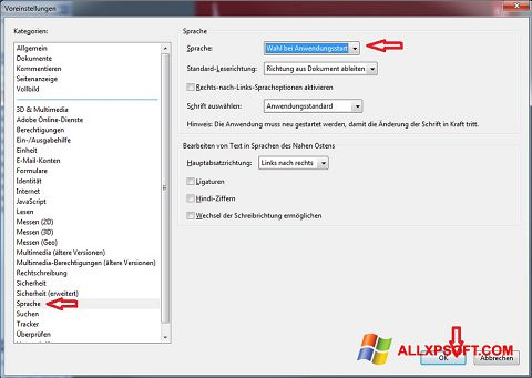 Screenshot Adobe Reader for Windows XP