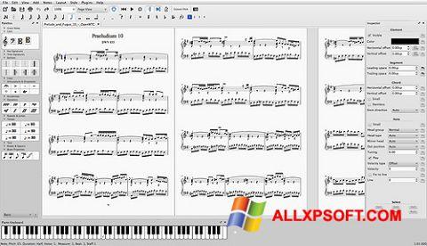 Screenshot MuseScore for Windows XP