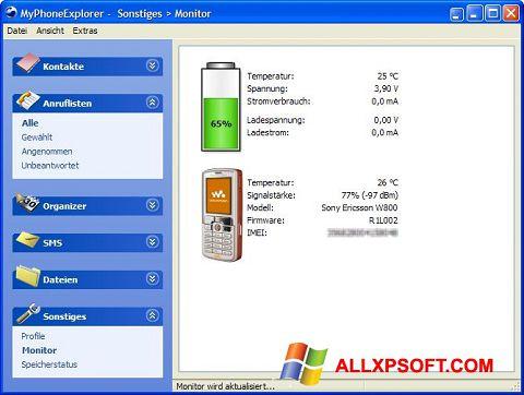 Screenshot MyPhoneExplorer for Windows XP