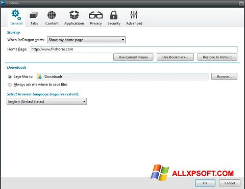 Screenshot Comodo IceDragon for Windows XP