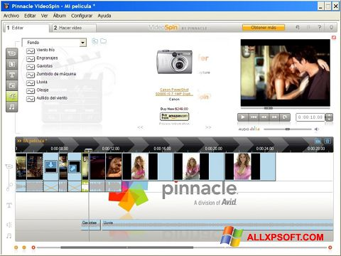Screenshot Pinnacle VideoSpin for Windows XP