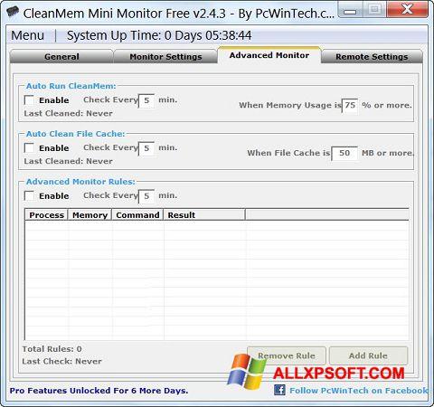 Screenshot CleanMem for Windows XP